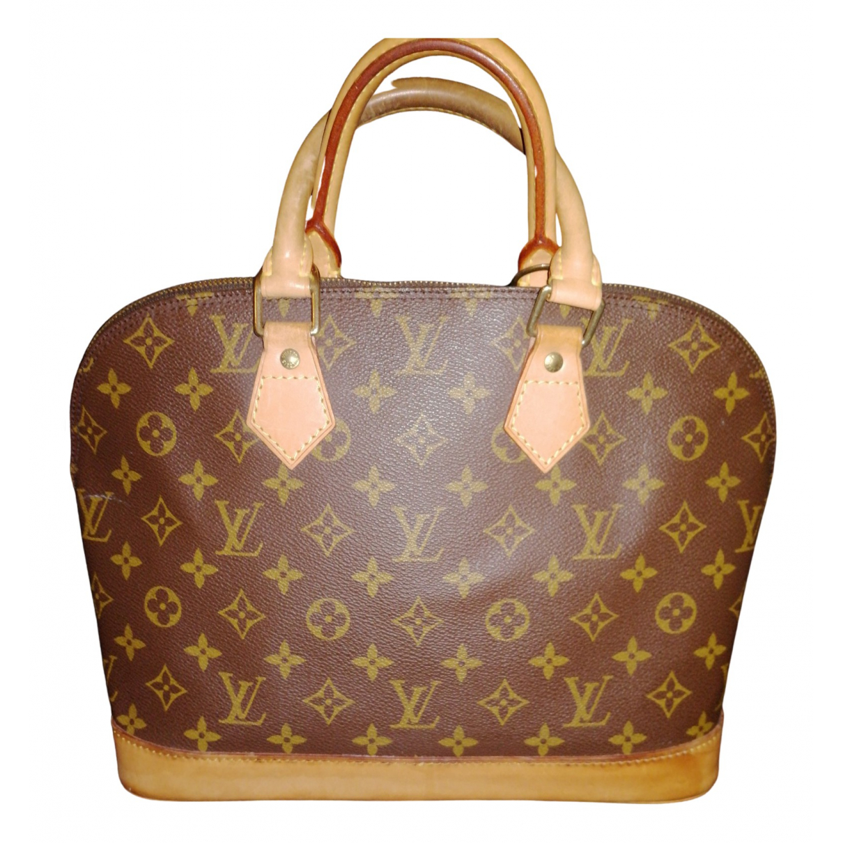 Louis Vuitton Alma Brown Cloth handbag for Women N