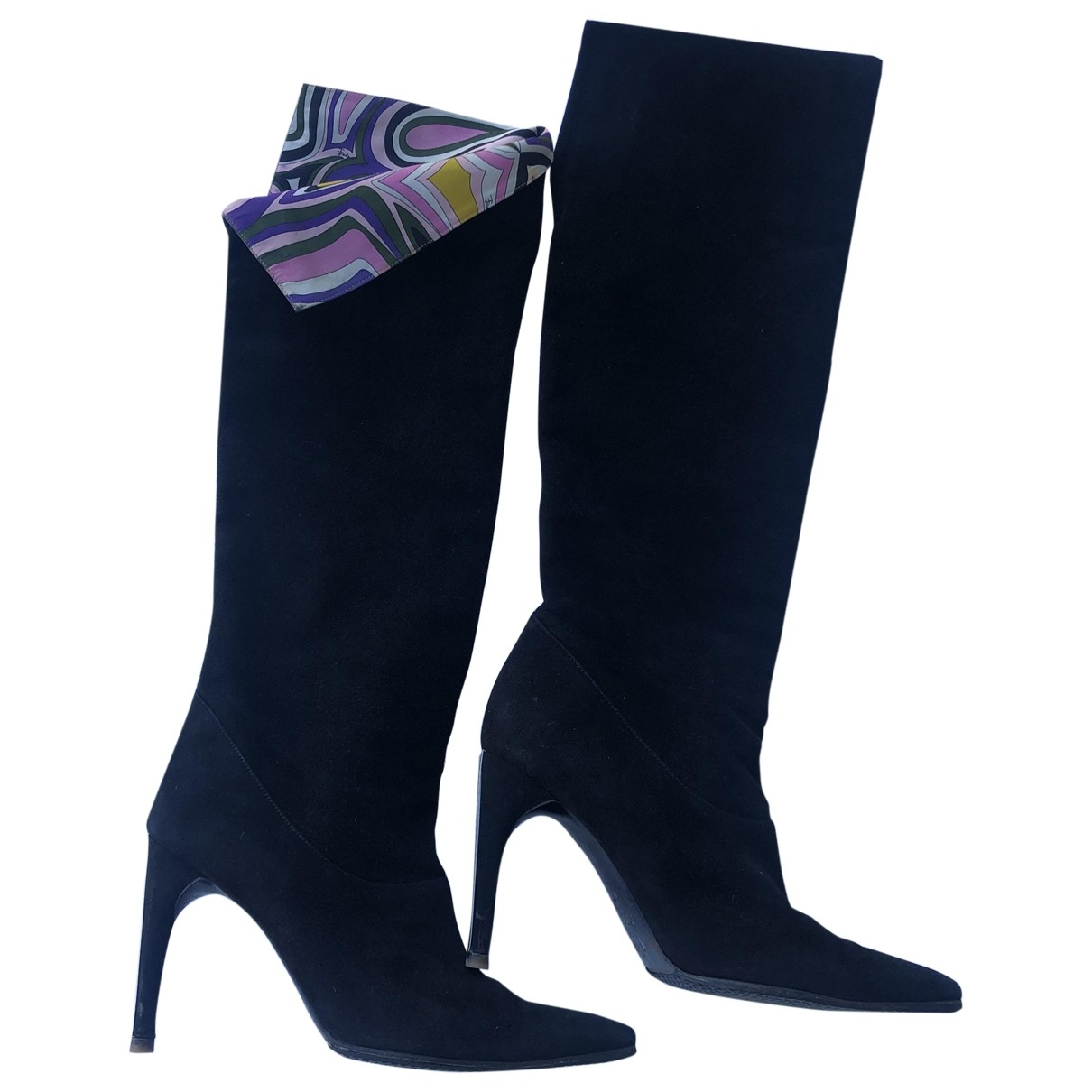 Emilio Pucci \N Black Suede Boots for Women 38 IT