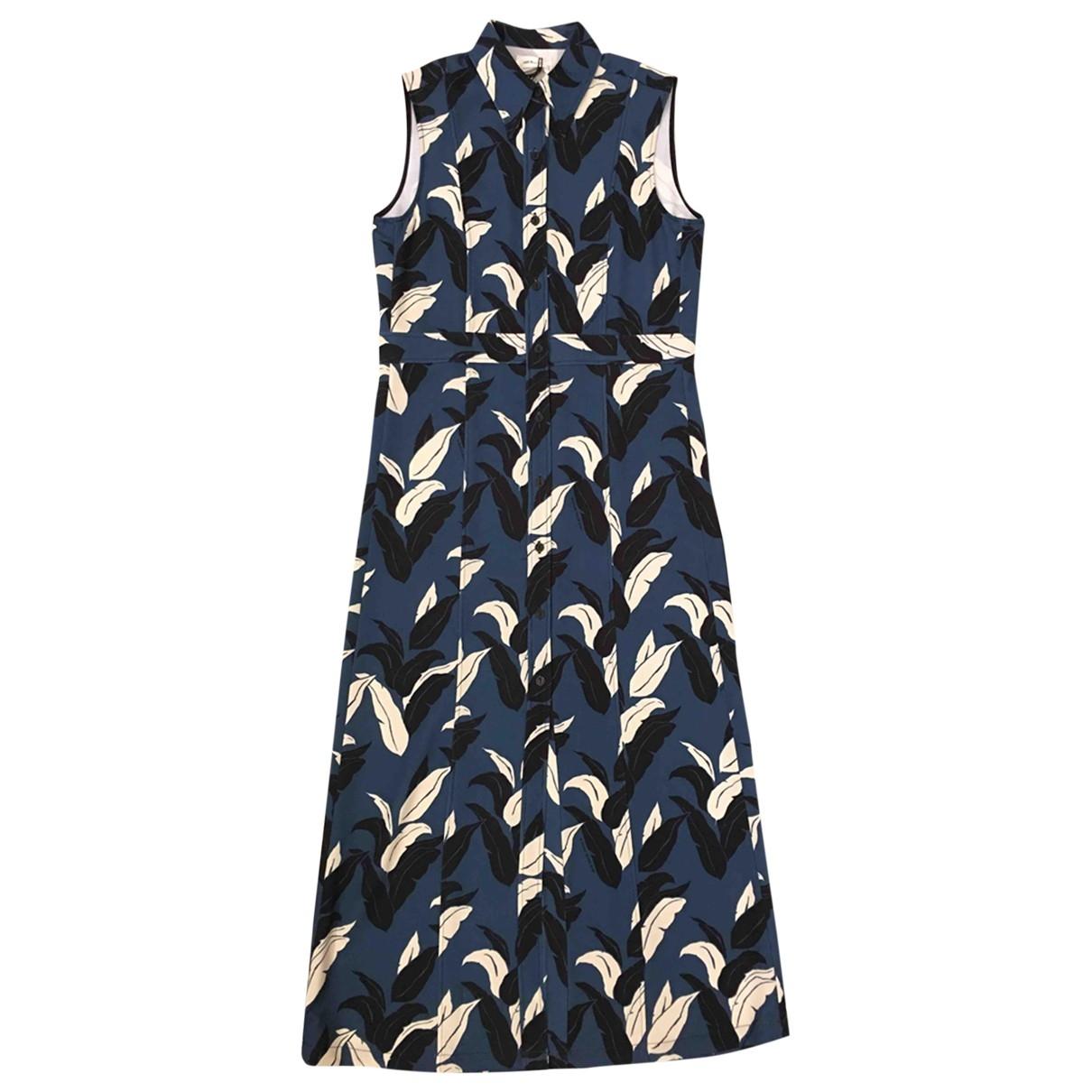 Wood Wood \N Kleid in  Blau Polyester