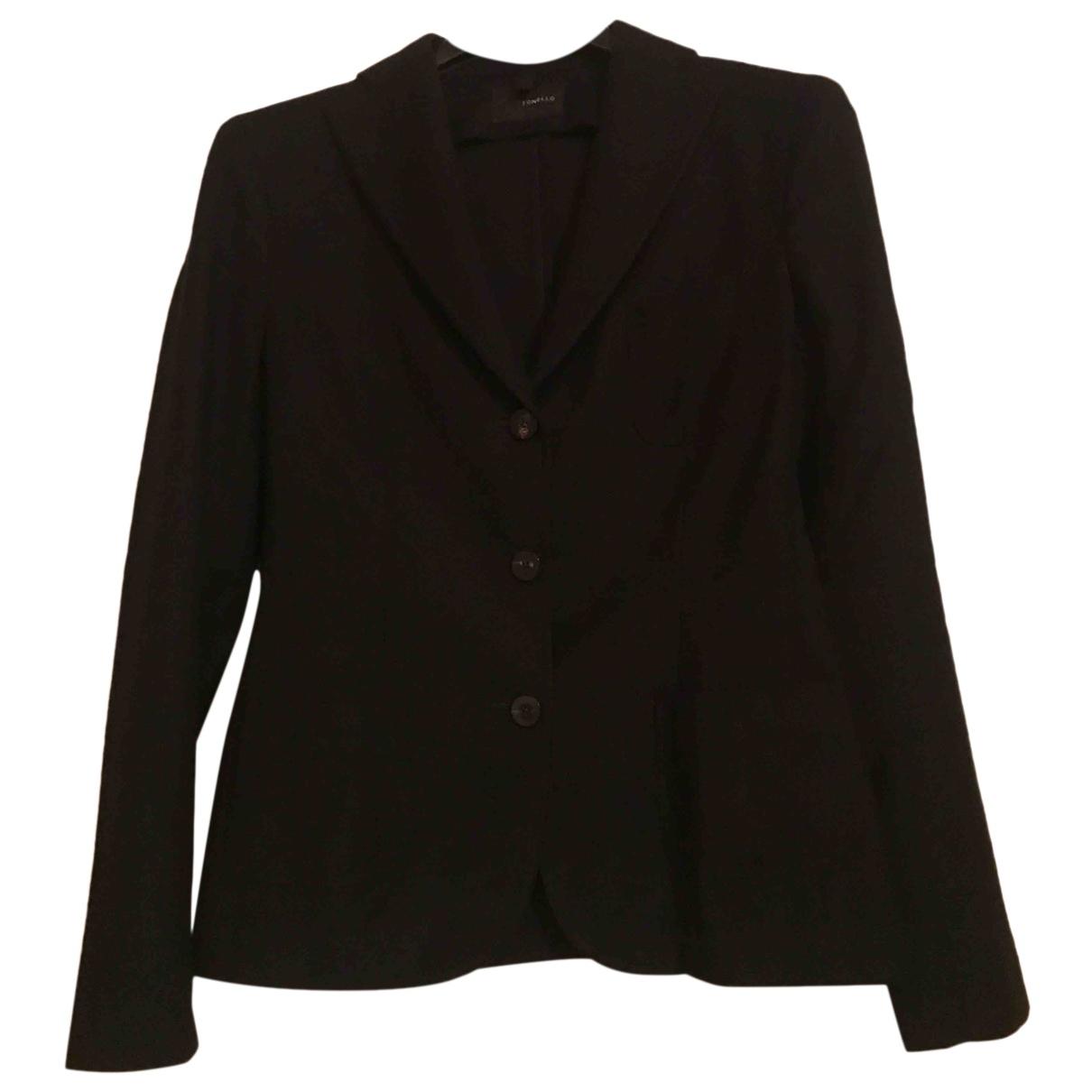 Tonello - Veste   pour femme en laine - noir