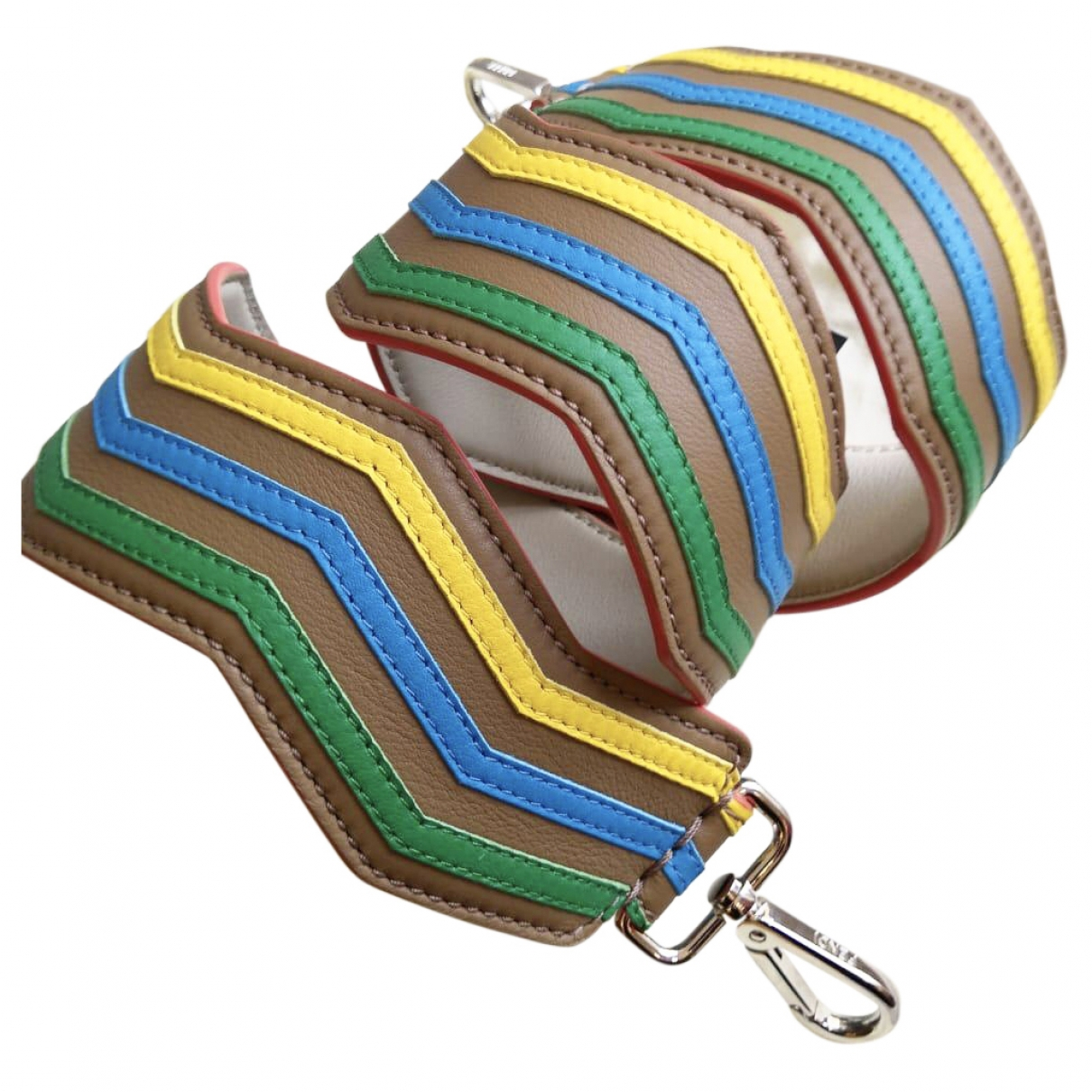 Fendi \N Multicolour Leather Small bag, wallet & cases for Men \N