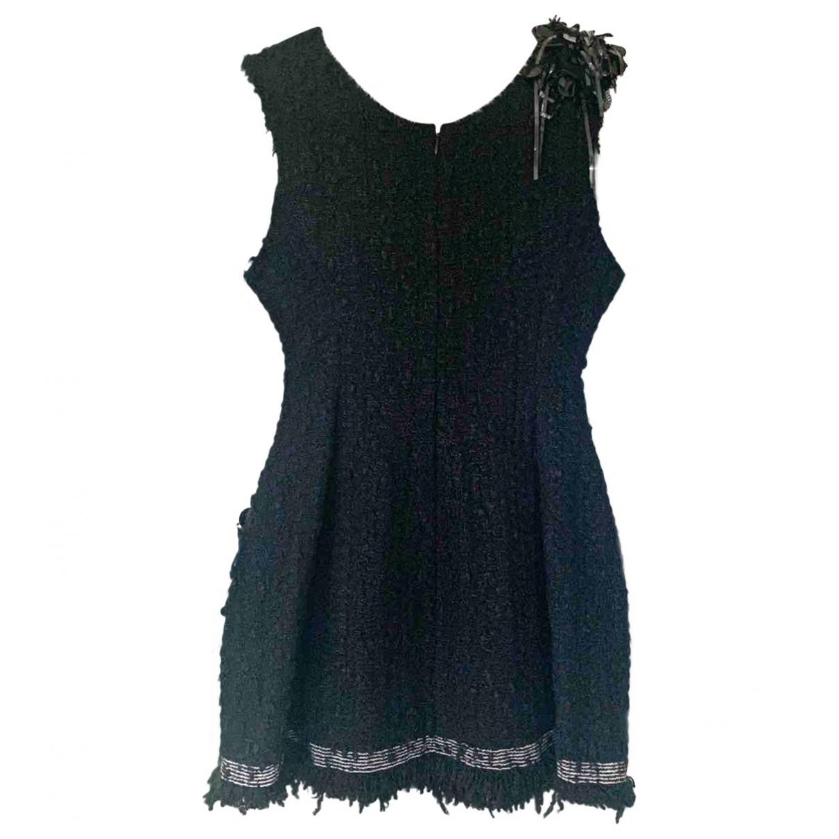 Celine - Robe   pour femme en tweed - noir
