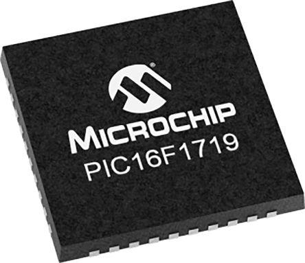 Microchip PIC16F1719-I/MV, 8bit 8 bit CPU Microcontroller, PIC16F, 32MHz, 28 kB Flash, 40-Pin UQFN (73)