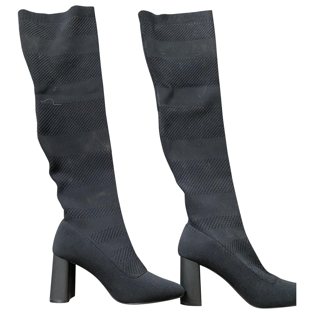 Zara - Bottes   pour femme en toile - noir