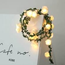 20pcs Rose Shaped Bulb String Light 2M