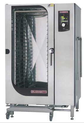 BCM202E Roll-In Electric Boiler based Combination-Oven/Steamer with Dial and Digital controls  Reversible 9 speed fan  Up to 50 recipe programs with