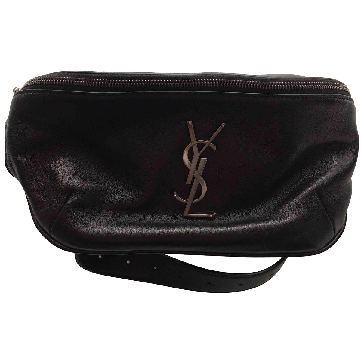 Saint Laurent - Pochette Belt Bag pour femme en cuir - noir