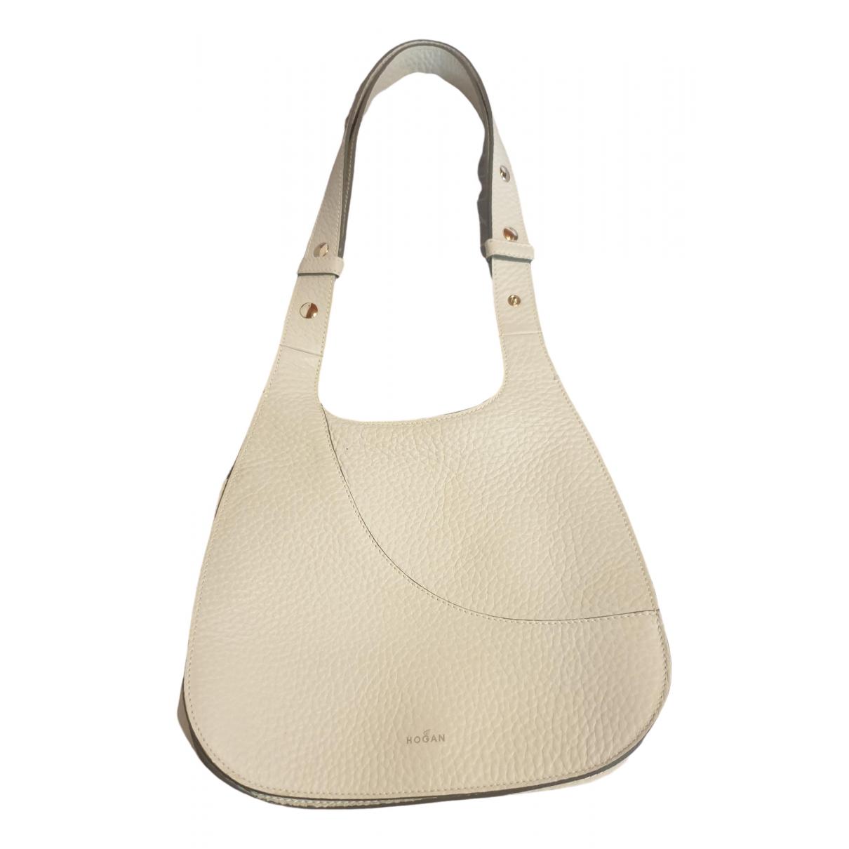 Hogan \N White Leather handbag for Women \N
