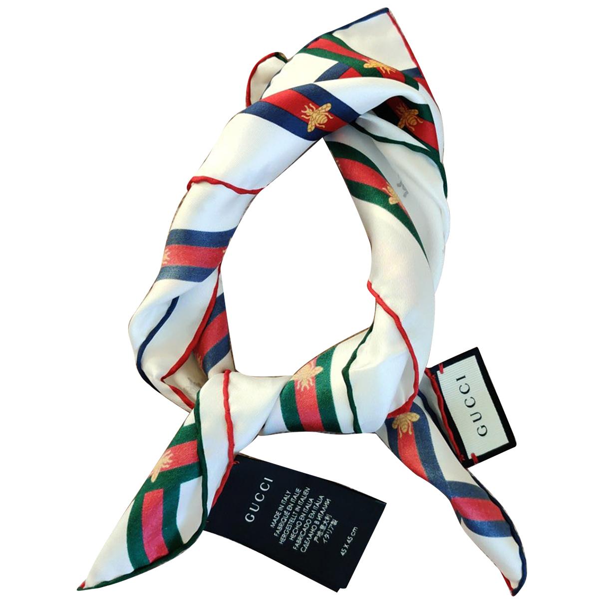 Gucci N White Silk scarf & pocket squares for Men N
