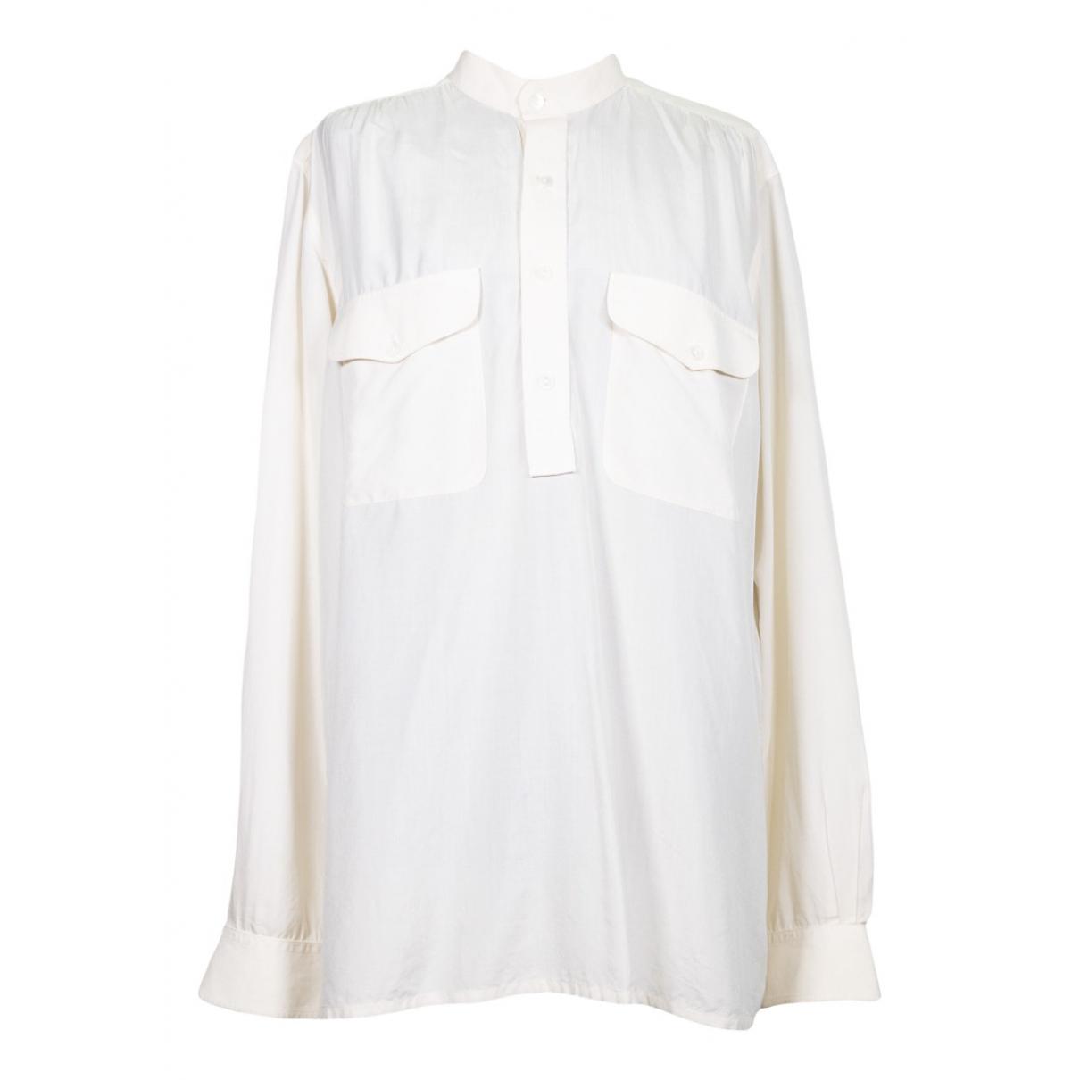 Yves Saint Laurent \N White Silk  top for Women M International