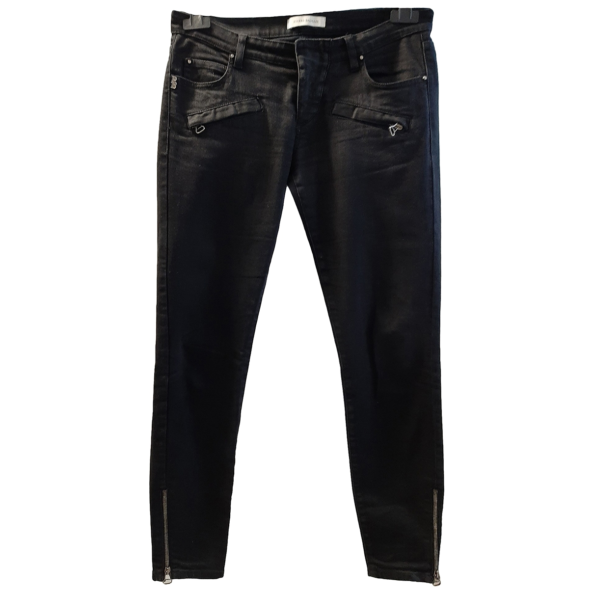 Pierre Balmain \N Black Cotton - elasthane Jeans for Women 29 US