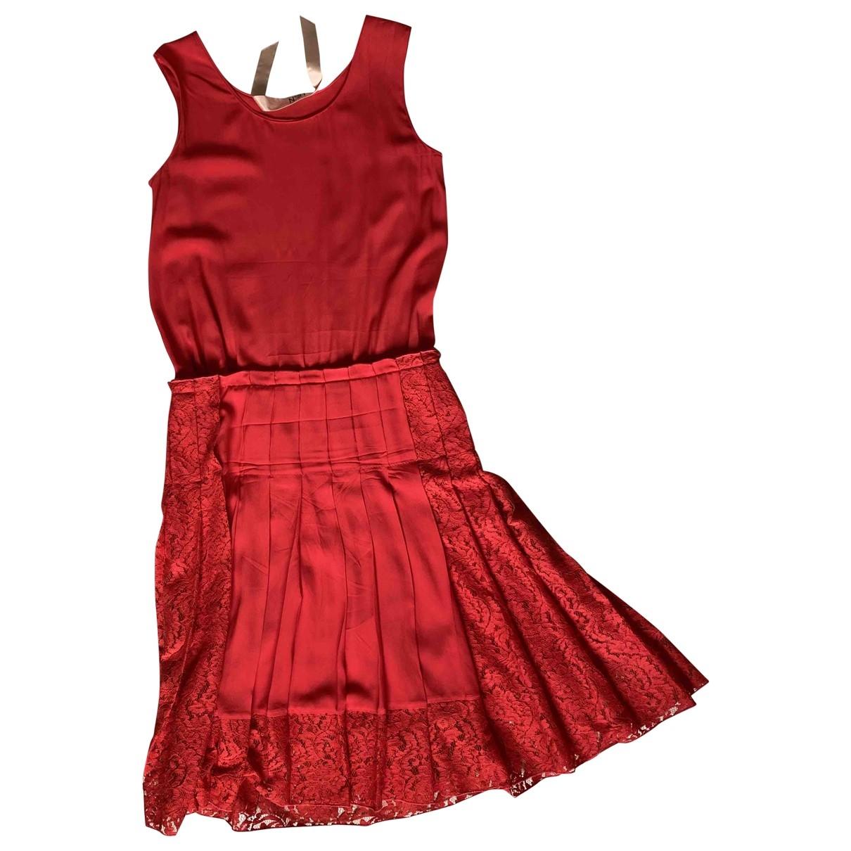 N°21 \N Kleid in  Rot Seide