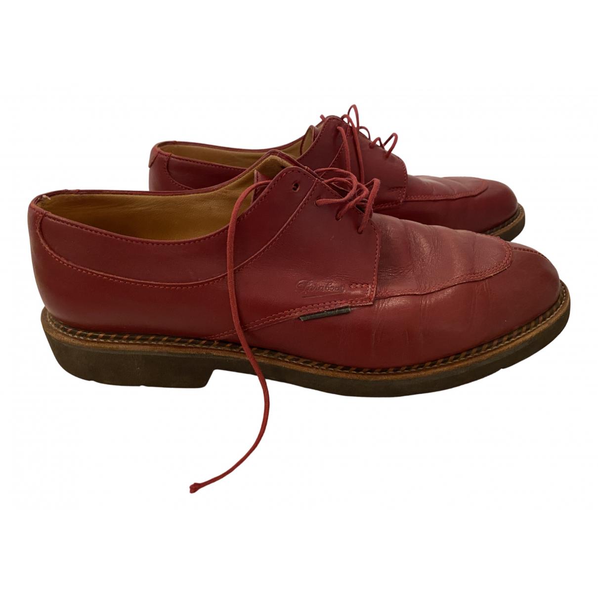 Paraboot - Derbies   pour femme en cuir - rouge