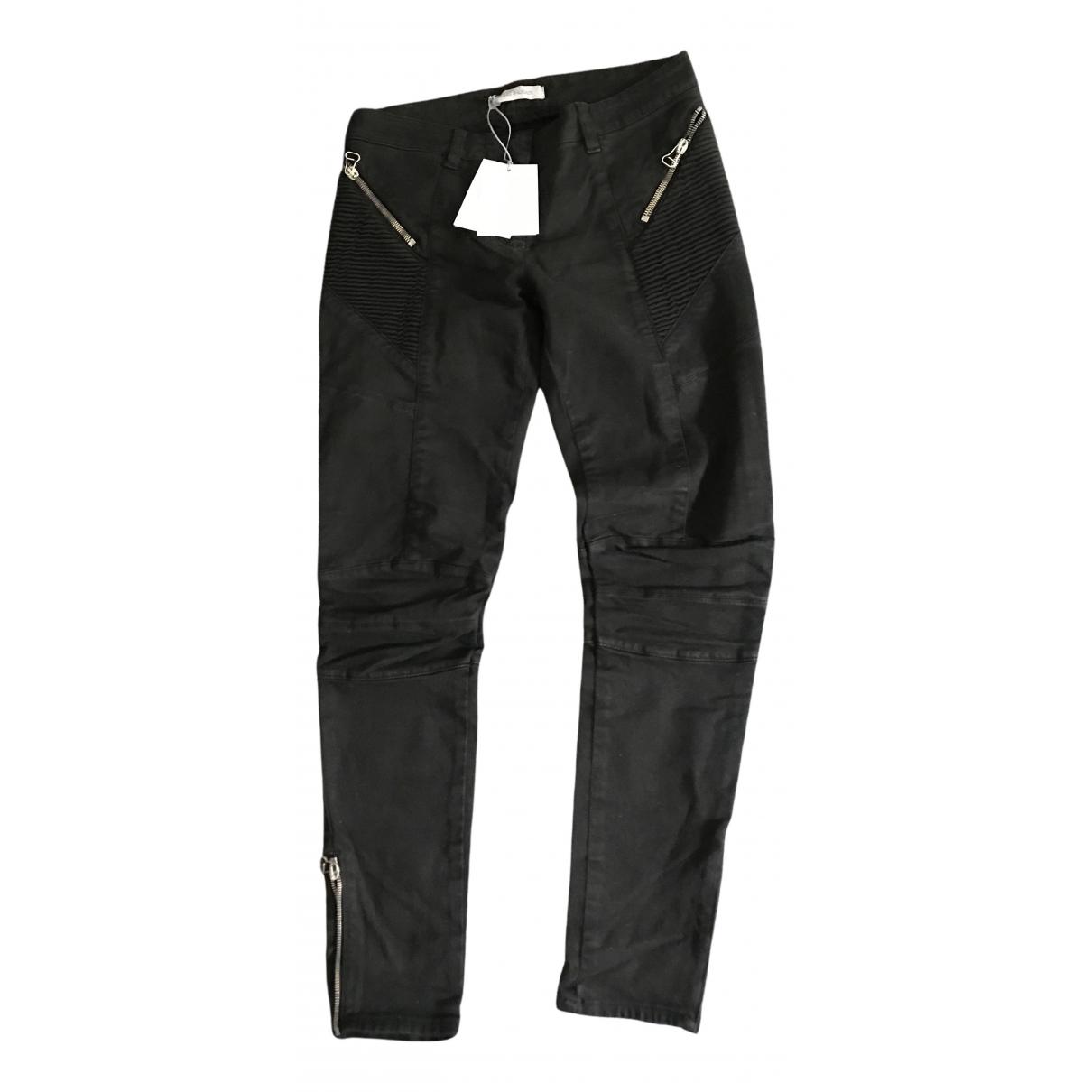 Pierre Balmain \N Black Cotton - elasthane Jeans for Women 26US