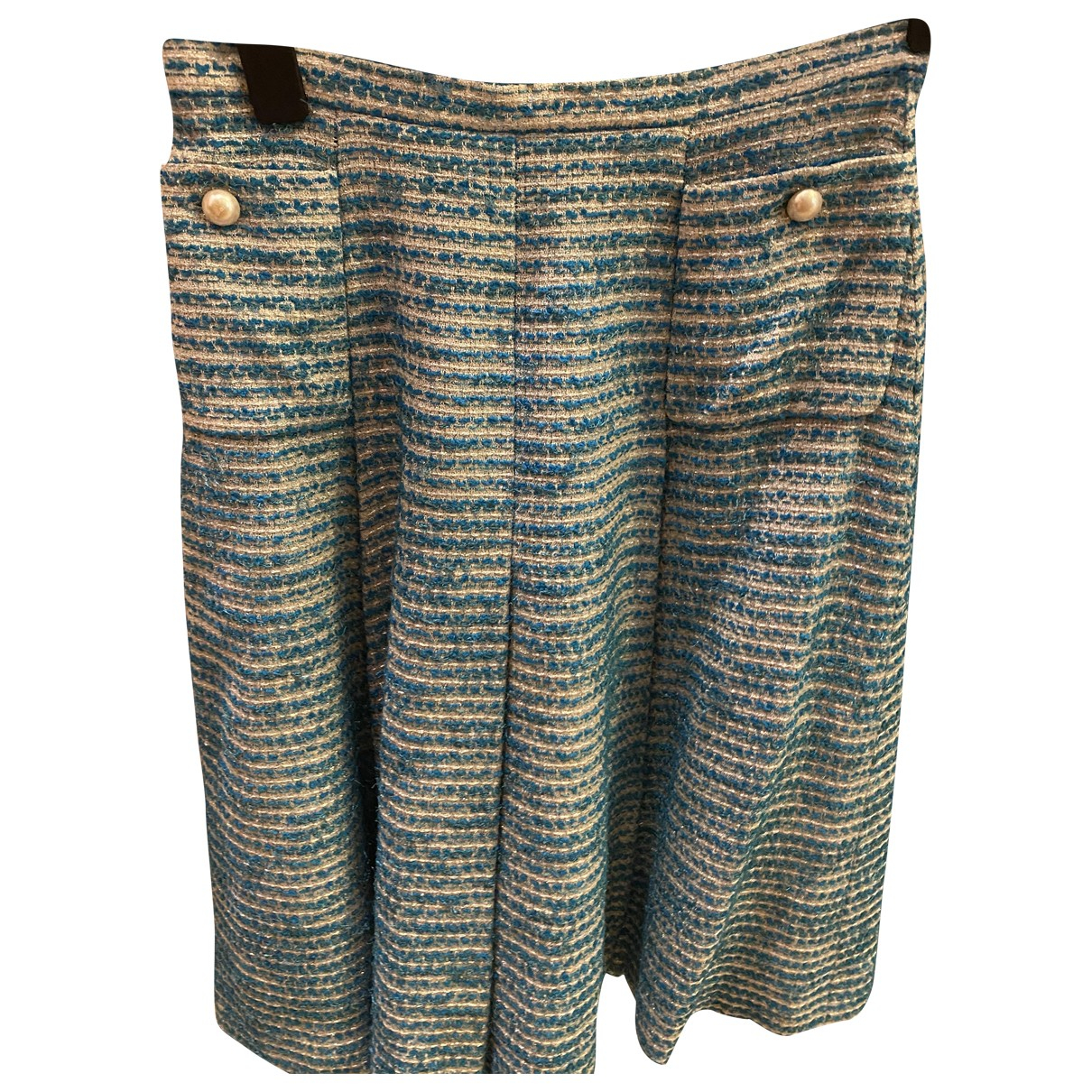 Chanel \N Blue Tweed skirt for Women 38 FR