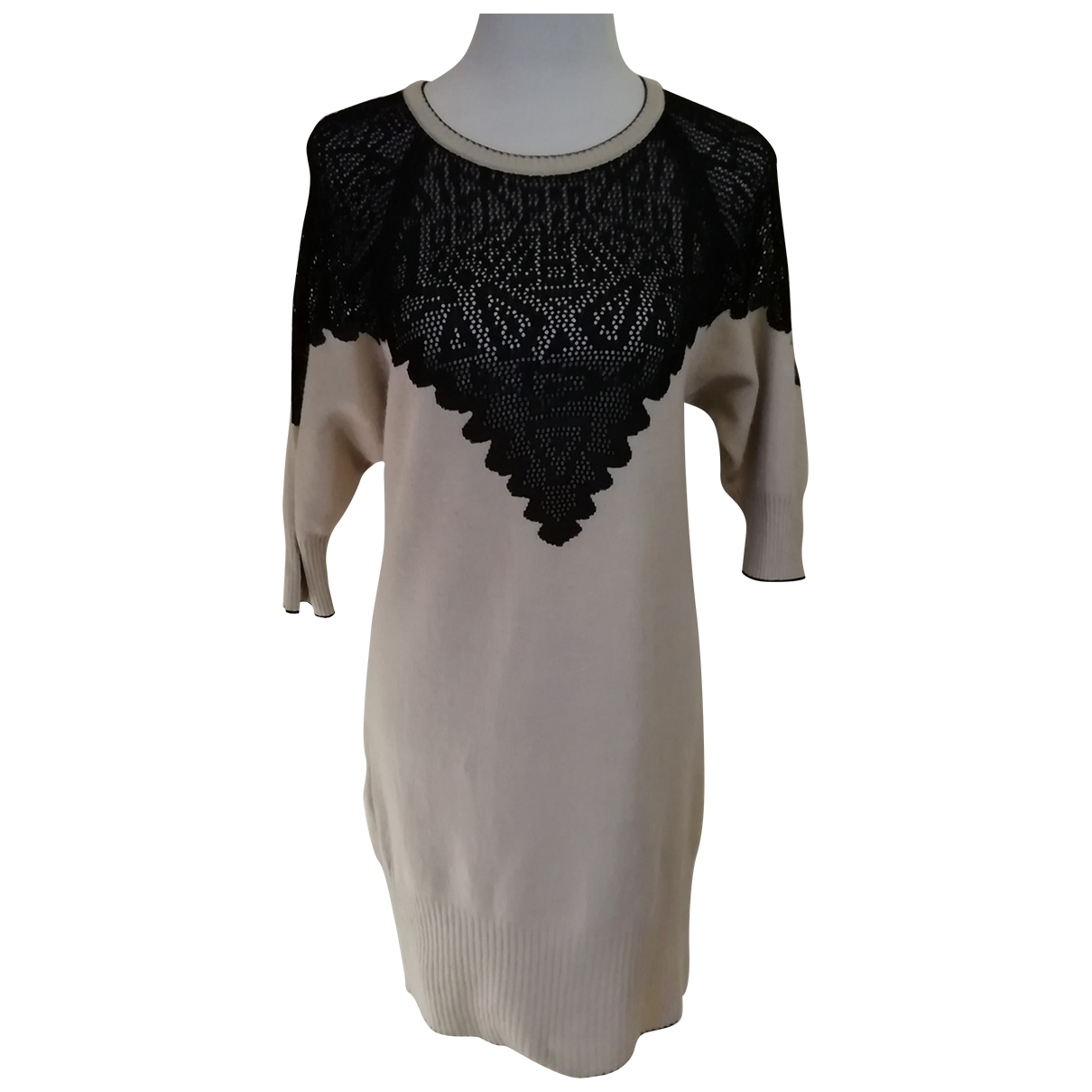 M Missoni - Robe   pour femme en laine - ecru