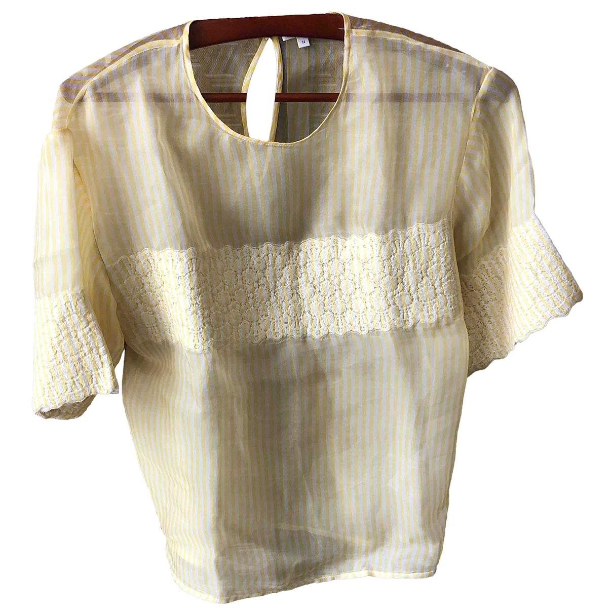 Manoush - Top   pour femme en soie - jaune