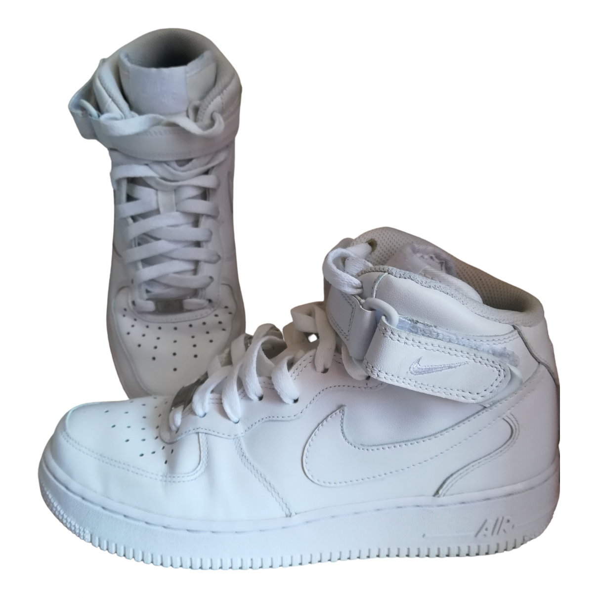 Nike Air Force 1 Sneakers in  Weiss Kautschuk