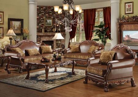 15160SLCCET Dresden Sofa + Loveseat + Chair + Coffee Table + 2 End Tables in Cherry Oak