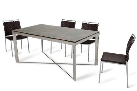 283191 30 Wood  Steel  and Glass Dining