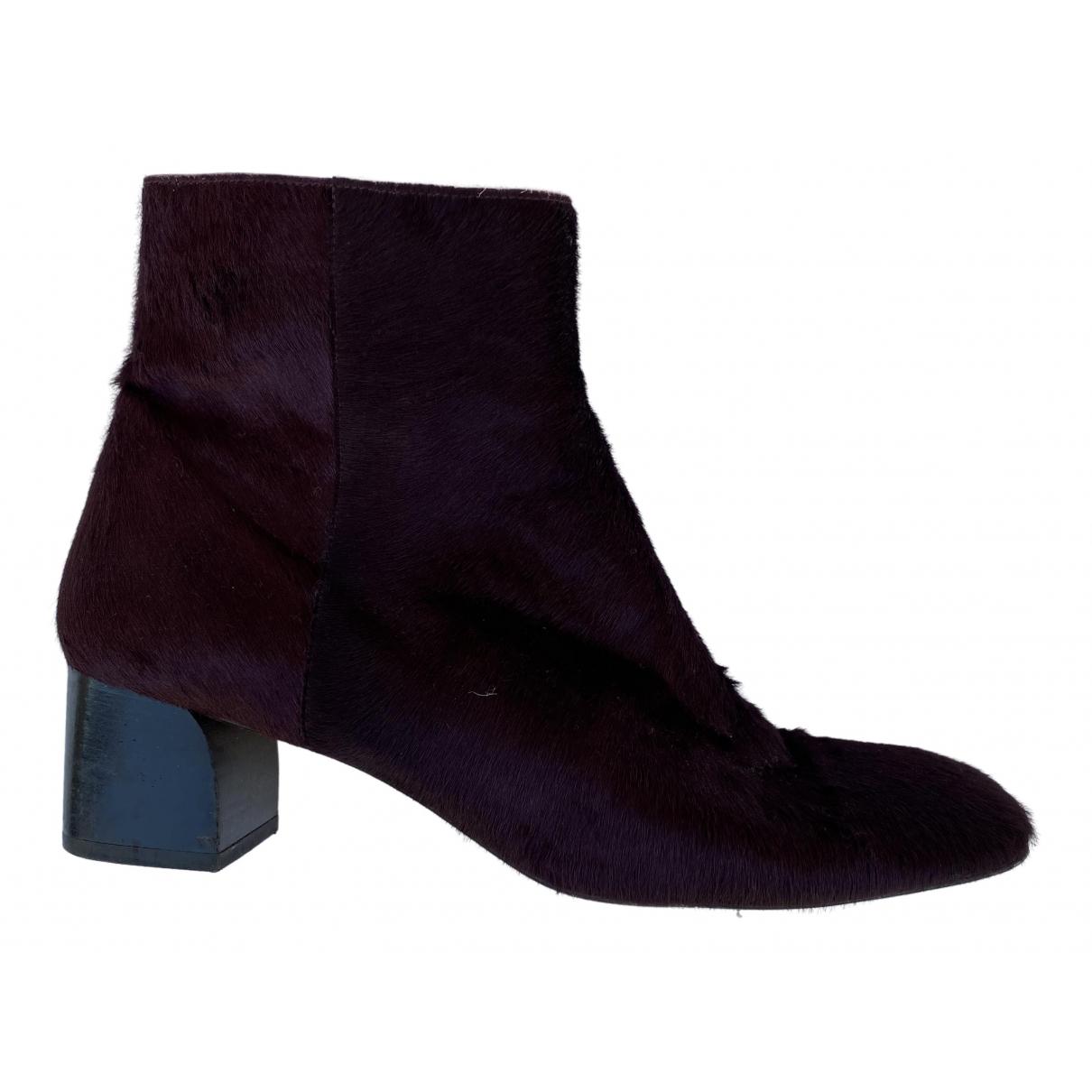 Castaner - Boots   pour femme en veau facon poulain - bordeaux