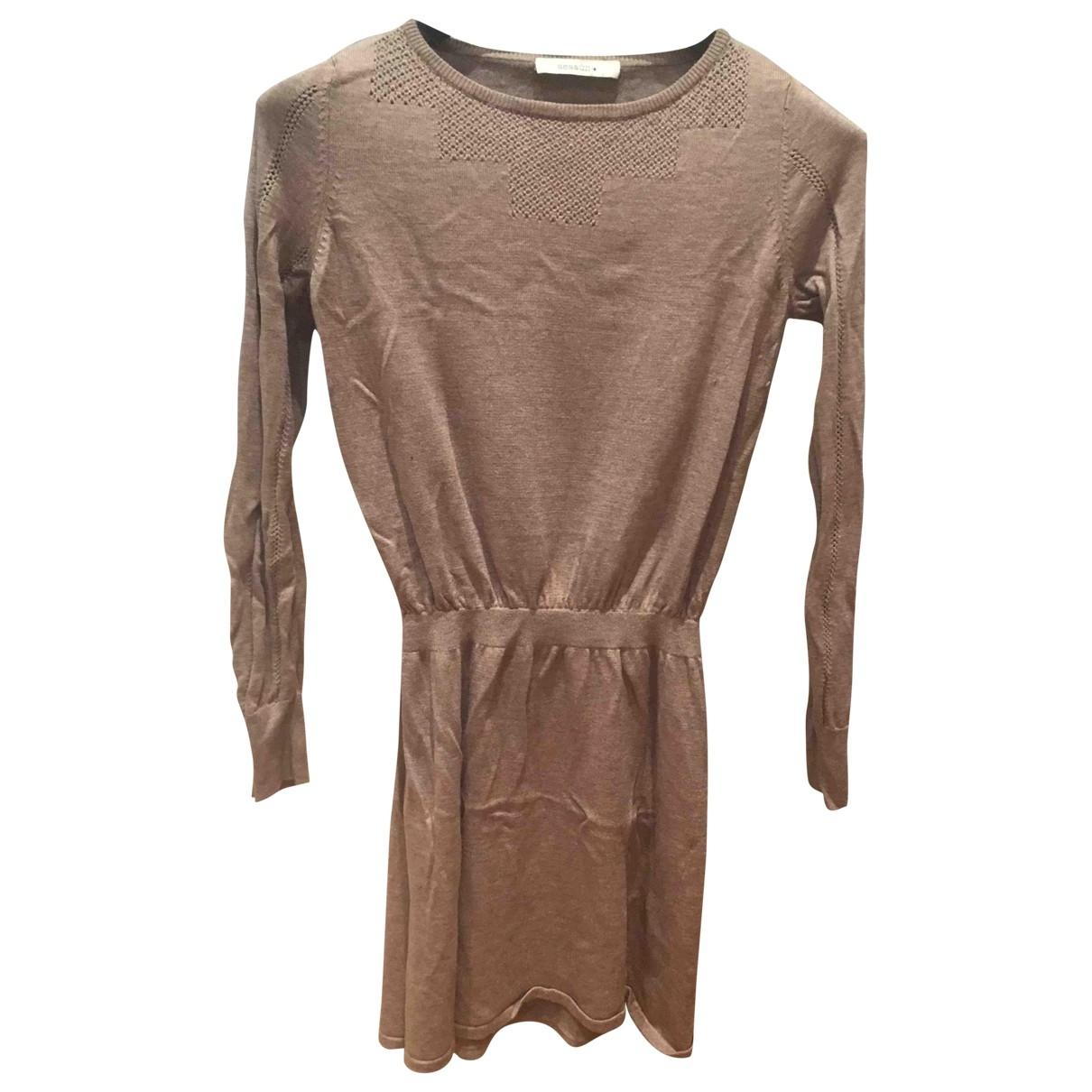 Sessun \N Kleid in  Braun Wolle