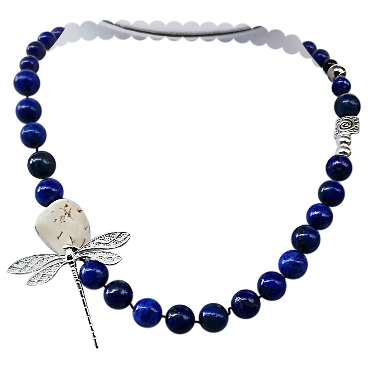 Non Signé / Unsigned \N Blue Silver necklace for Women \N