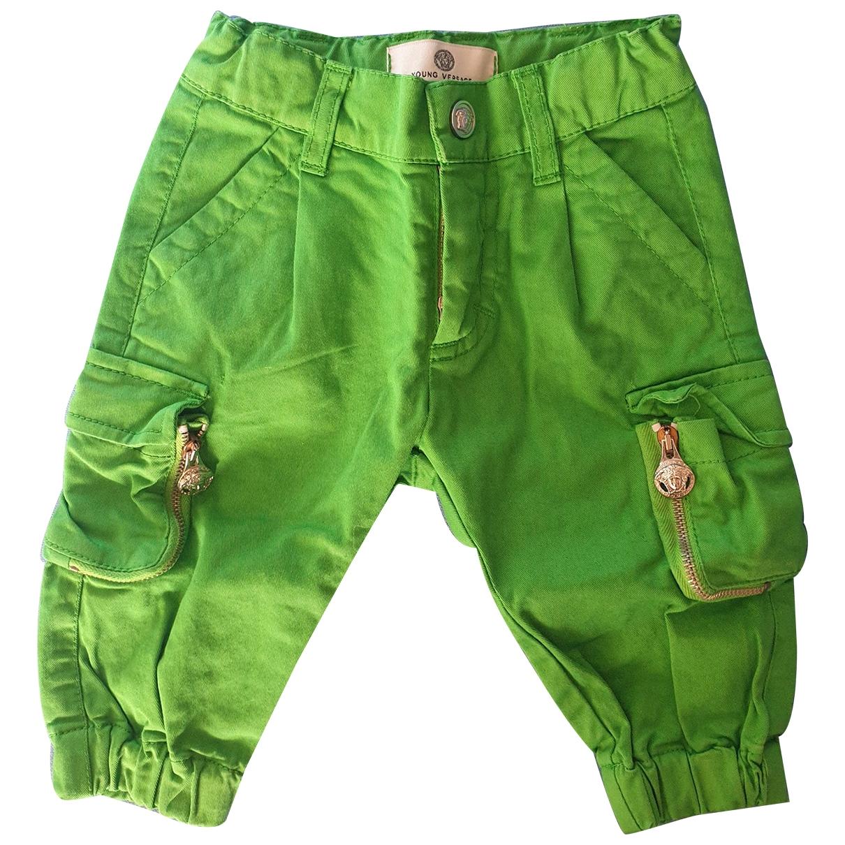 Versace - Pantalon   pour enfant en coton - vert