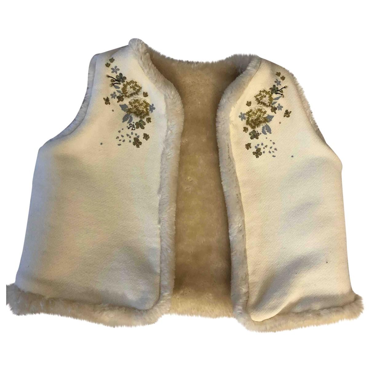 Petit Bateau - Pull   pour enfant en coton - beige