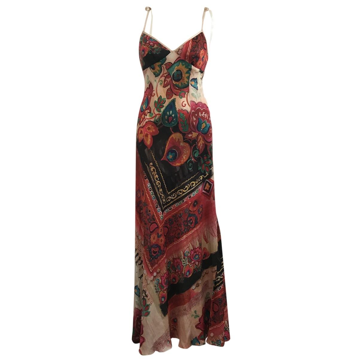 John Galliano \N Red Silk dress for Women 40 IT