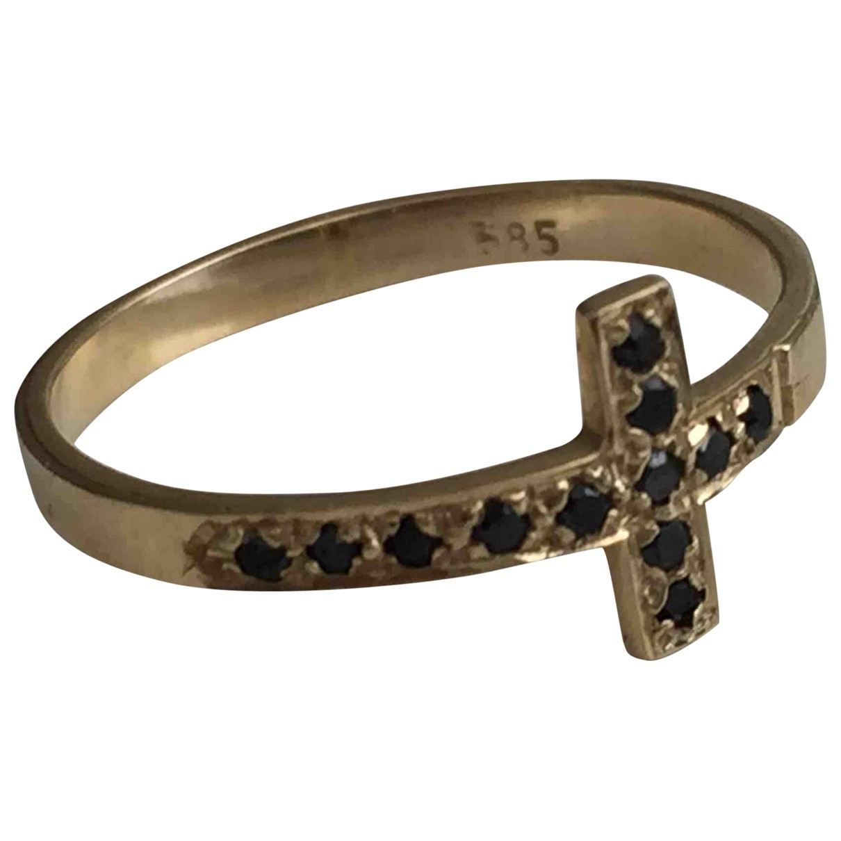Non Signe / Unsigned Croix Ring in  Gold Gelbgold