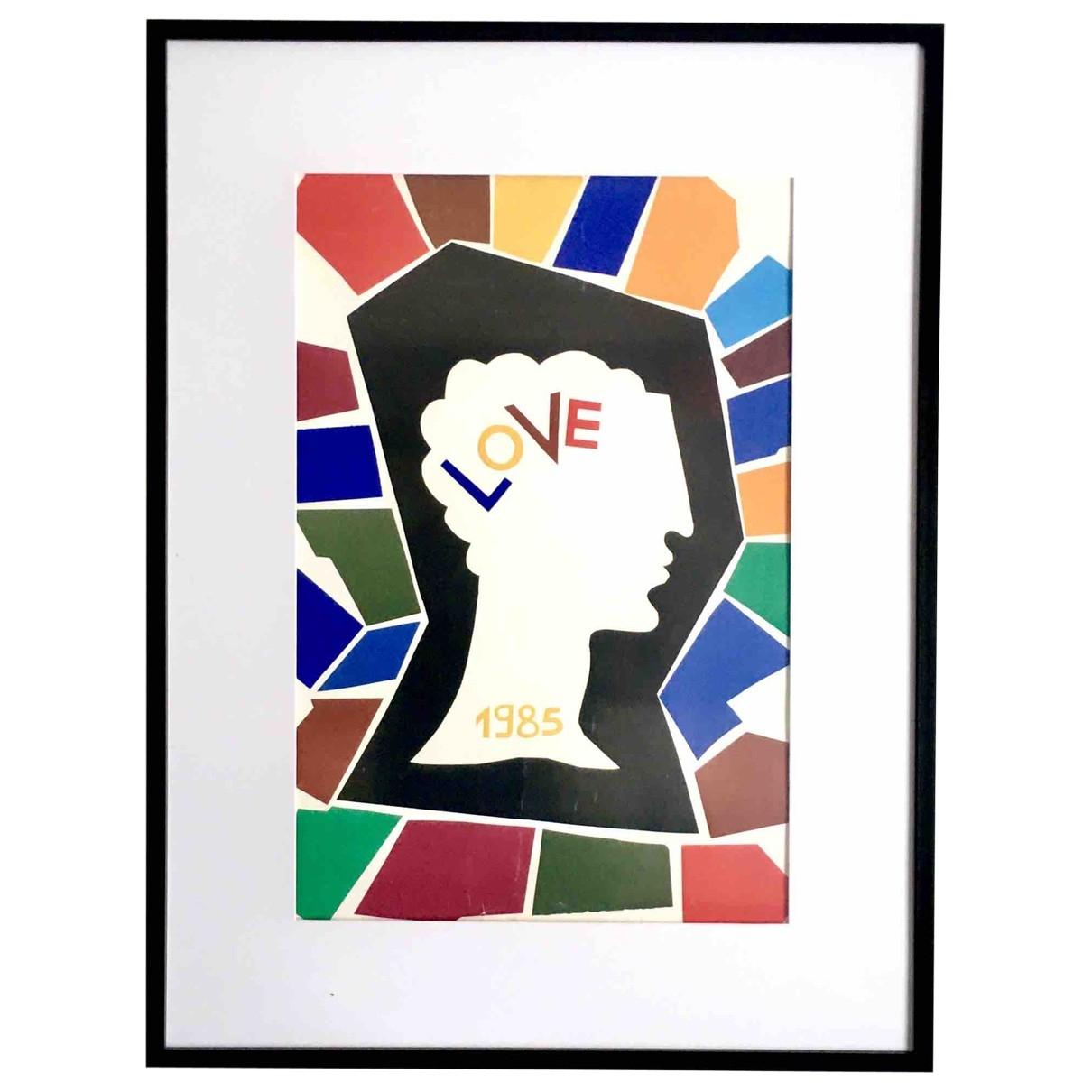 Yves Saint Laurent - Art   pour lifestyle en bois - multicolore