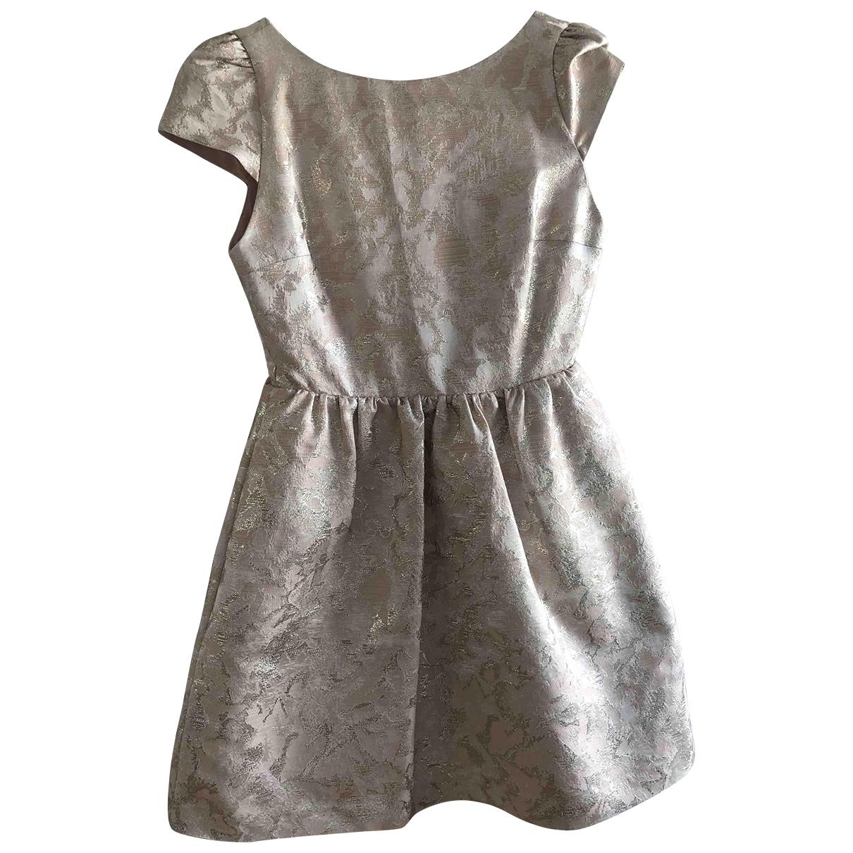 Alice & Olivia \N Kleid in  Metallic Polyester