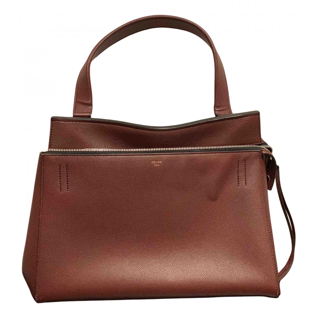 Celine Edge Handtasche in  Bordeauxrot Leder