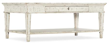 6014-80110-02 Cadence Rectangular Cocktail Table  in Whites and Creams and