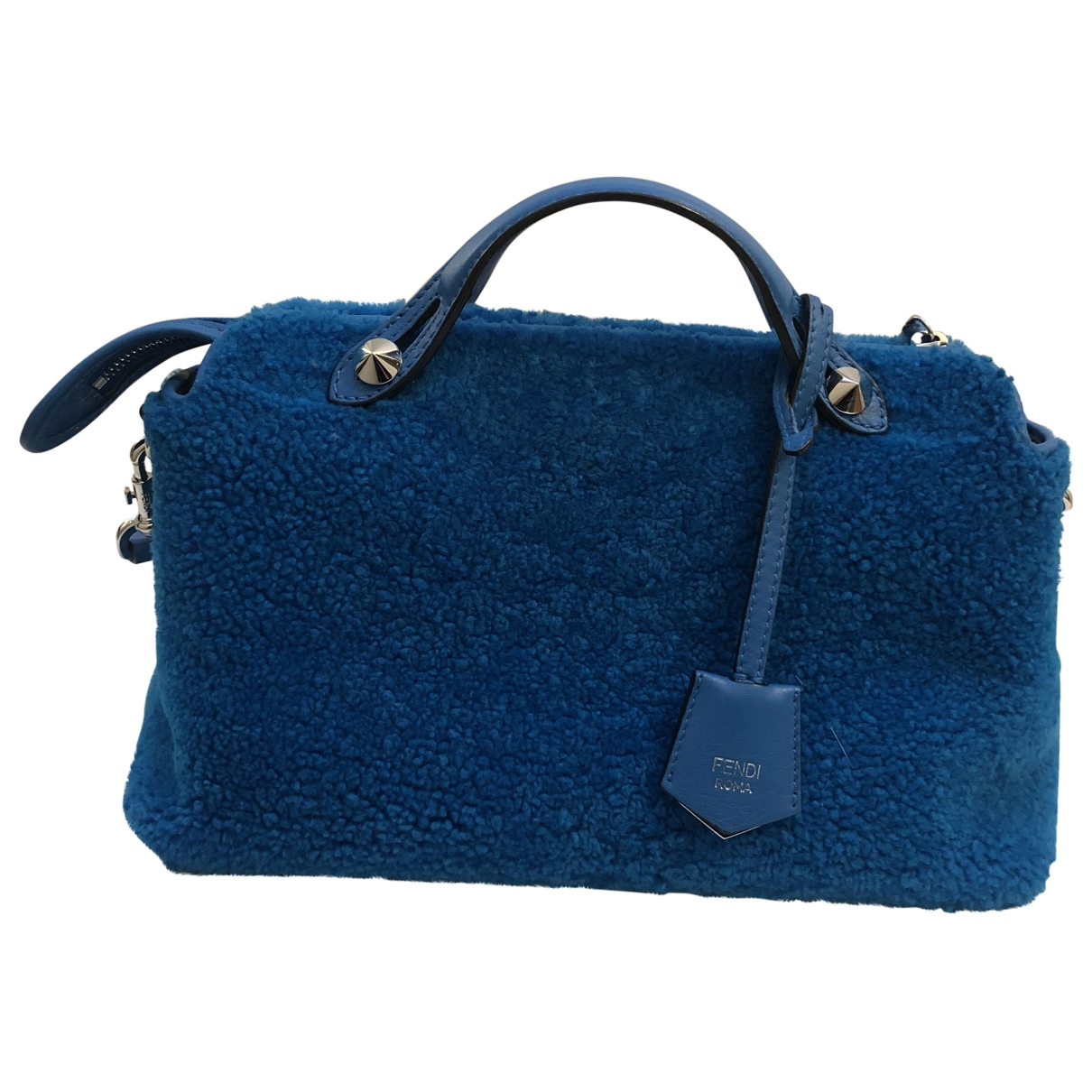 Fendi By The Way  Handtasche in  Tuerkis Fell