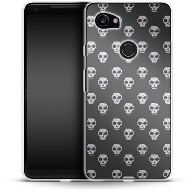 Google Pixel 2 XL Silikon Handyhuelle - Digital Skulls von caseable Designs