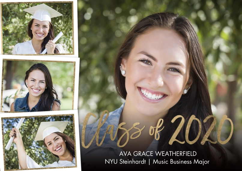 2020 Graduation Announcements 5x7 Cards, Premium Cardstock 120lb with Elegant Corners, Card & Stationery -2020 Class of Memories by Tumbalina