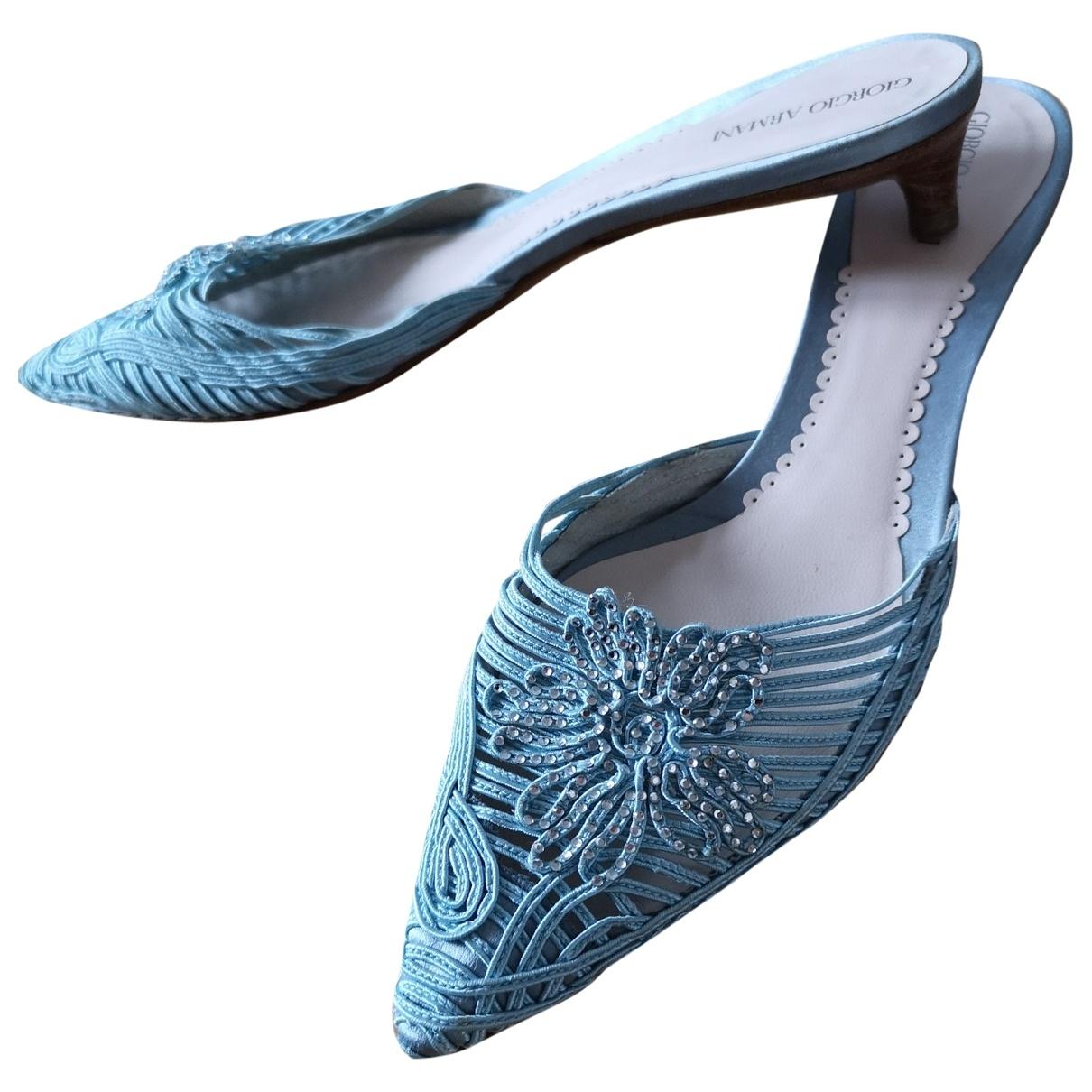Giorgio Armani - Sandales   pour femme - bleu