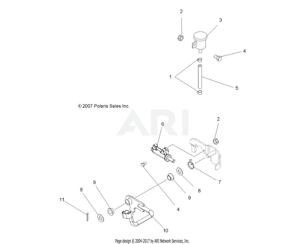 Polaris OEM 1911047-067 Pedal, Brake, Black