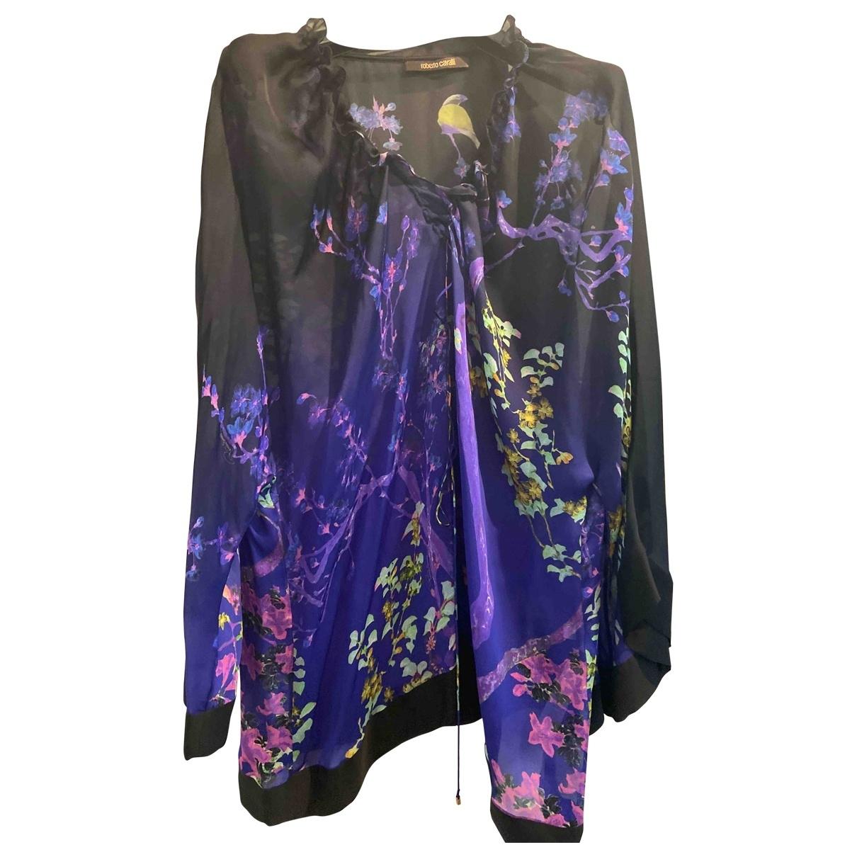 Roberto Cavalli \N Purple Silk  top for Women 40 IT