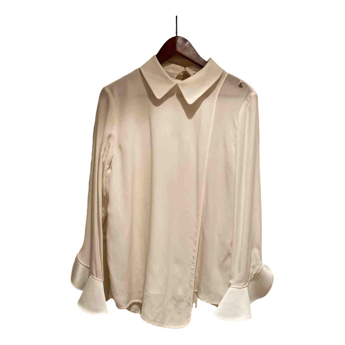Elisabetta Franchi N White Silk  top for Women 44 IT