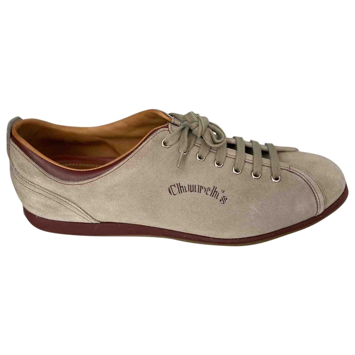 Church's \N Beige Suede Trainers for Men 10.5 UK