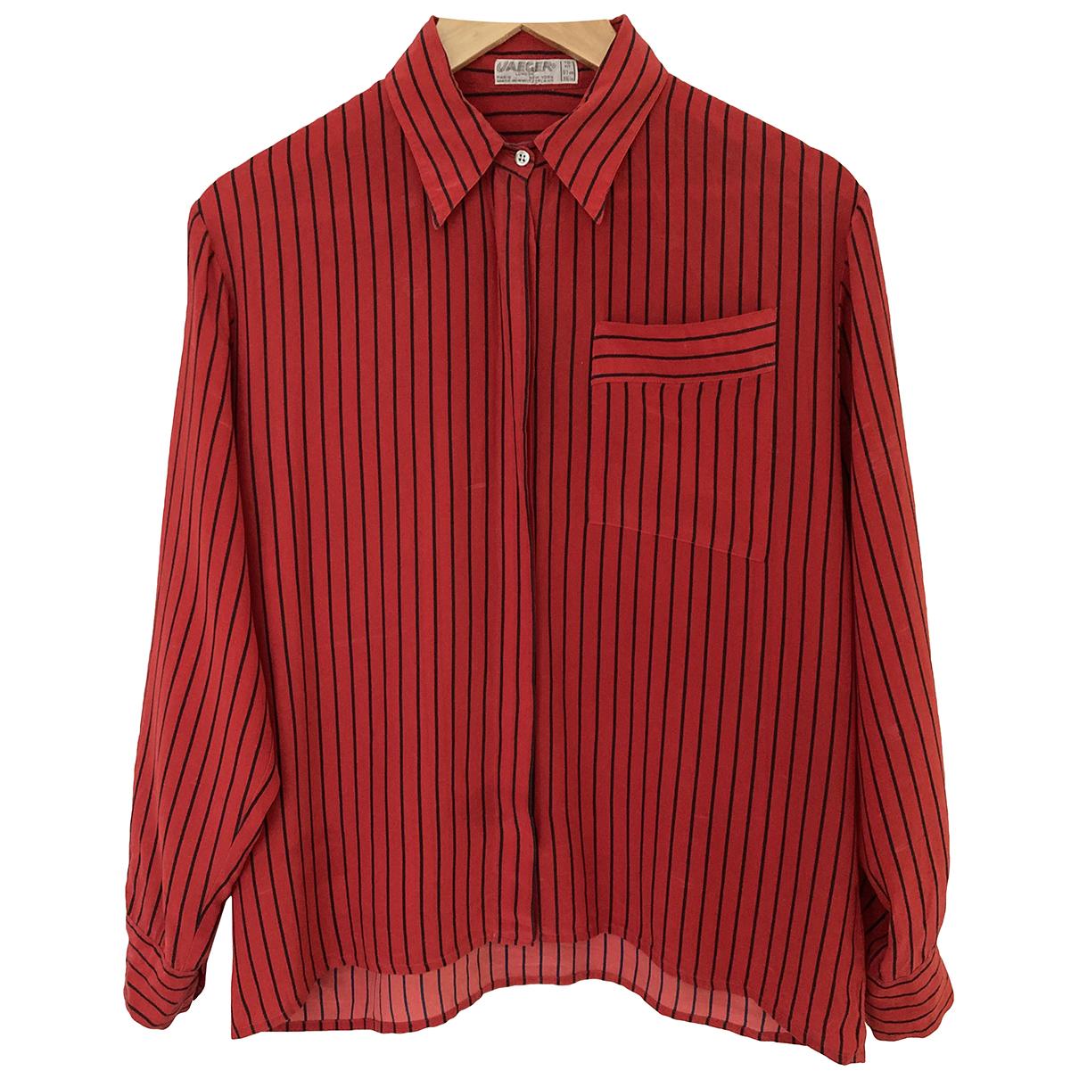Jaeger N Red Silk  top for Women 10 UK
