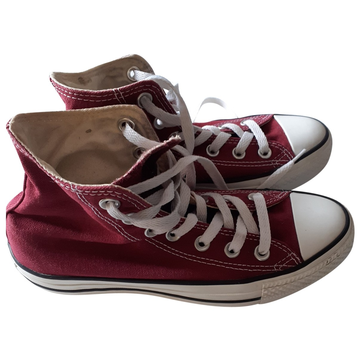 Converse \N Sneakers in  Bordeauxrot Leinen