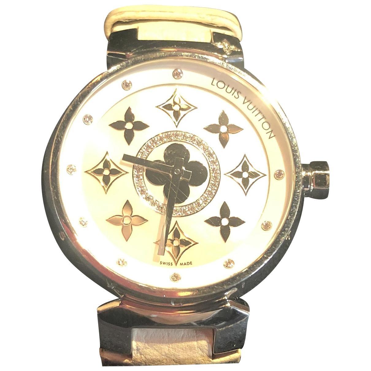 Louis Vuitton Tambour White Steel watch for Women \N
