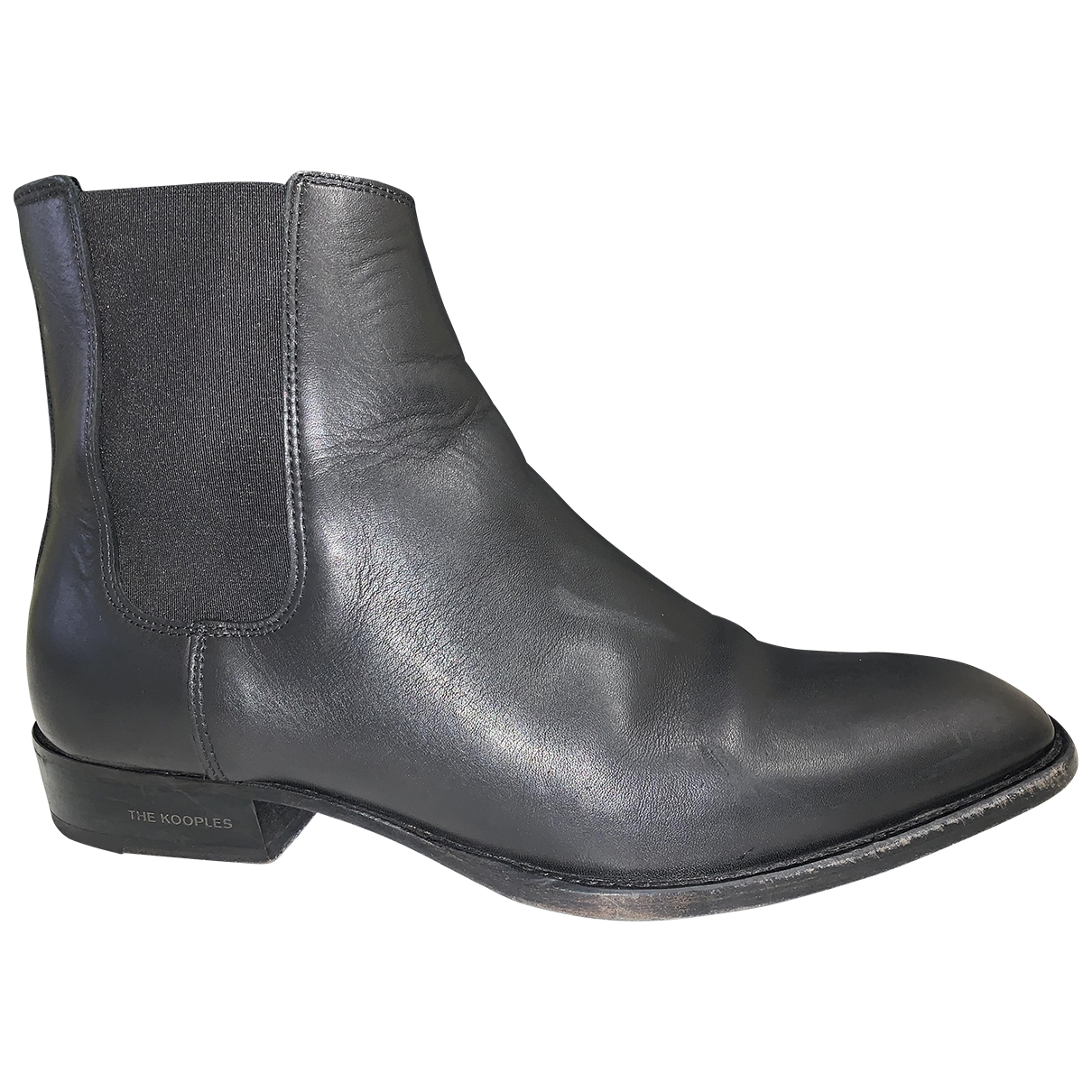 The Kooples Spring Summer 2019 Black Leather Boots for Men 43 EU