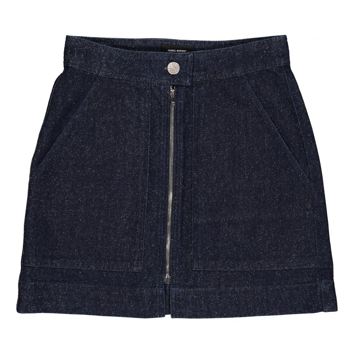 Isabel Marant \N Blue Denim - Jeans skirt for Women 38 FR