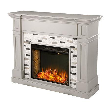 Havsing Alexa Smart Fireplace, One Size , Gray