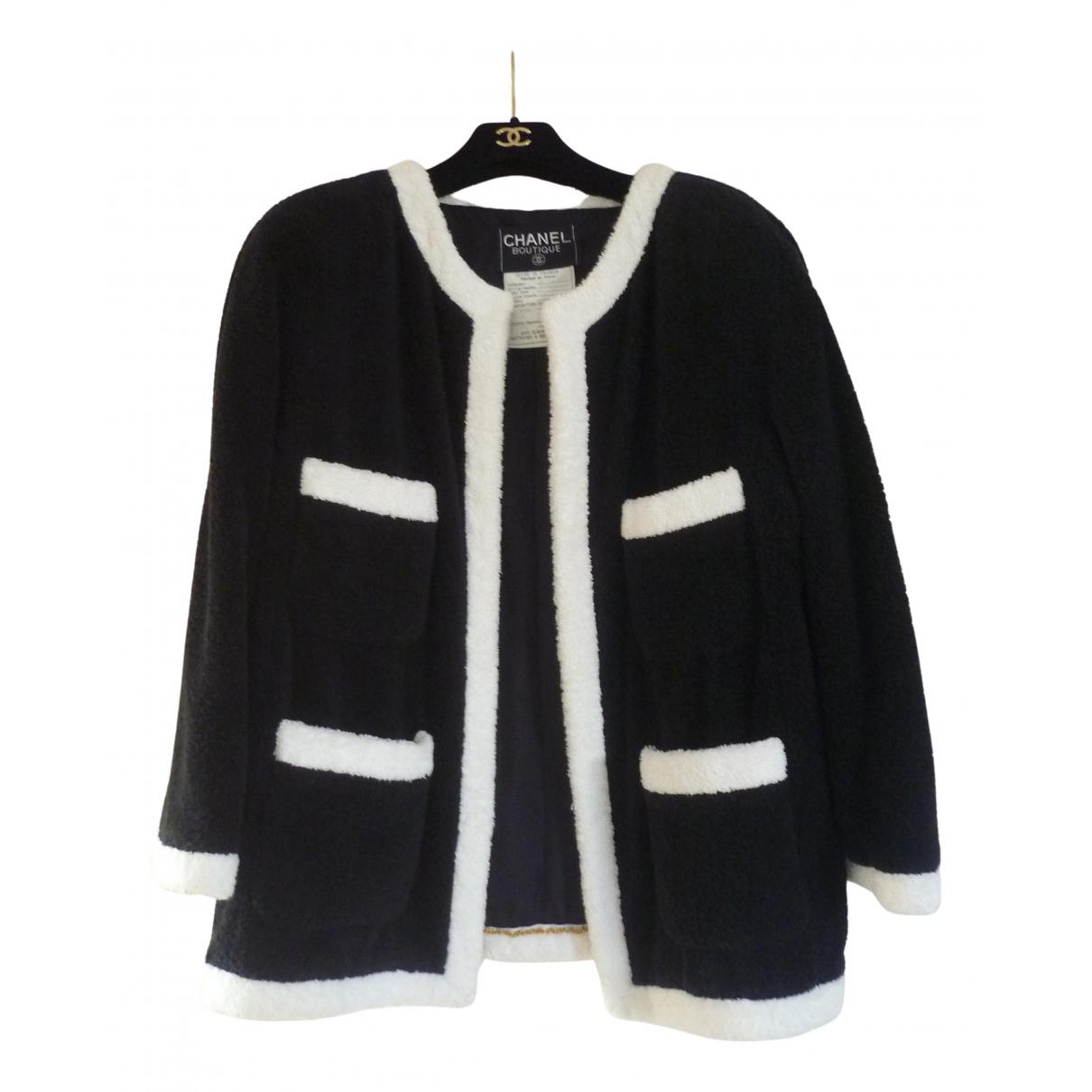 Chanel \N Jacke in  Schwarz Baumwolle